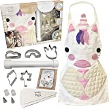 Hapinest Kids Baking Set for Girls Gifts Ages 4 5 6 7 8 Year Old Make and Bake Cookies Unicorn Apron and Cookie Cutters, 14 P