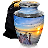 Dock of The Bay Cremation Urns for Human Ashes Adult for Funeral, Burial, Columbarium or Home, Cremation Urns for Human Ashes