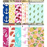 Designer Poly Mailers 10x13: Sample Variety Pack ~ Anchor, Daisy, Hibiscus, Arrow, Cactus, Pink & Mint Aloha, Watermelon, Fla