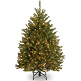 National Tree Company Pre-lit Artificial Christmas Tree | Includes Pre-Strung White Lights and Stand | Dunhill Fir - 4.5 ft