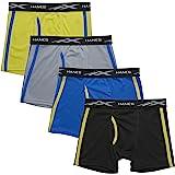Hanes Boys BXBAM4 X-Temp Breathable Mesh Boxer Brief 4-Pack Boxer Briefs - Multi