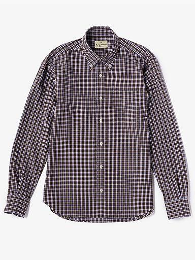 Cotton Wool Check Buttondown Shirt 5811-699-0102: Mocha