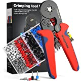 Ferrules Crimping Tool Kit, Wieprima Crimping Tool Plier Tool Kit Set Wire 1200PCS Wire Terminals Crimping Connectors Wire En