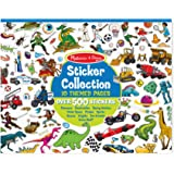 Melissa & Doug 4246 Sticker Collection Book: Dinosaurs, Vehicles, Space, and More- 500+ Stickers