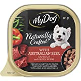 MY DOG Naturally Crafted Wet Dog Food Beef 85g Tray, 14 Pack, Adult, Small/Medium