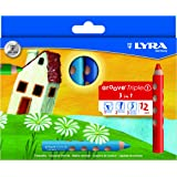 リラ LYRA 文具 色鉛筆 三角グリップ クレヨン 水彩色鉛筆 美しい発色 グルーヴトリプルワン 12色セット