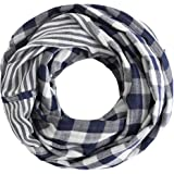 Radiant & Resilient Women Cotton Infinity Scarf, Plaid Infinity Scarf