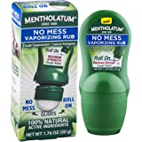 Mentholatum No Mess Vaporizing Rub with easy-to-use Roll On Applicator, 1.76 Ounce (50g) - 100% Natural Active Ingredients fo