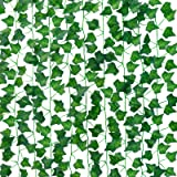 Teldrassil 24pcs 158 Feet Fake Ivy Leaves Fake Vines, Artificial Ivy Garland Greenery Artificial Hanging Plants for for Wall