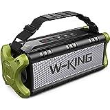 50W(70W Peak) Wireless Bluetooth Speakers Built-in 8000mAh Battery Power Bank, W-KING Outdoor Portable Waterproof TWS, NFC Sp