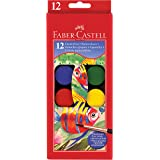 Faber-Castell Watercolor Paint Set With Brush - Premium Washable Watercolors for Kids