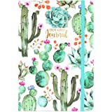 Dotted Grid Notebook/Journal - Dot Grid Hard Cover Notebook, Premium Thick Paper with Fine Inner Pocket, 5''×8.25'', Cactus P