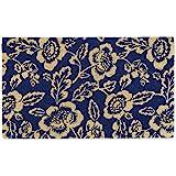 DII Spring/Summer Doormat, 18x30x0.5, Blue Peonies