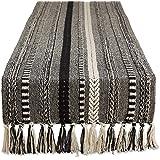 DII Farmhouse Braided Table Runner, 15x108, Black