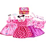 MINNIE MOUSE Disney Bowdazzling Dress Up Trunk Set, 21 Fashion Accessories Included, Size 4-6x - Amazon Exclusive