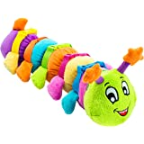 Buckle Toy - Bentley Caterpillar - Toddler Activity Toy - Fine Motor Skill Development - Counting and Color Recognition