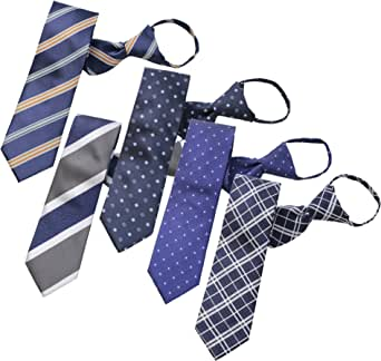 BUSINESSMAN SUPPORT(ビジネスマンサポート) ワンタッチネクタイ ジップ式簡単ネクタイ 5本セット Aタイプ zip5a-b3d1e3h2k3