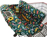Shopping Trolley Cover for Baby or Toddler - 2-in-1 Highchair Cover - Compact Universal Fit - Modern Unisex Design for Boy o