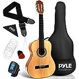 "Beginner 30"" Classical Acoustic Guitar 6 String Junior Linden Wood Traditional Guitar w/Wooden Fretboard, Case Bag, Strap, Tu"