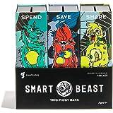Giantsuper Smart Beast Trio Piggy Bank: 3-in-1 Money-Wise Educational Piggy Bank …