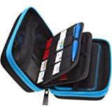 BRENDO Hard Carrying Case for New Nintendo 2DS XL + Large Stylus, Fits Wall Charger, 24 Game Cartridge Case Holder, Large Acc