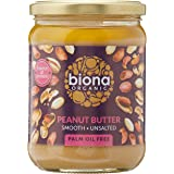 Biona Organic Peanut Butter Smooth, Unsalted, 500 g