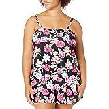 Fleet Street Ltd. Womens Swim Tankini Top Tankini Top - Multi