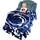 """College Covers Penn State Nittany Lions Soft Rachel Plush Throw Blanket, 63 x 86"""""""