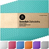 Swedish Dishcloths Wholesale Sponge Cloth - Bulk 10 Pack Reusable Eco-Friendly Biodegradable Cellulose Cleaning Dishcloth Tow
