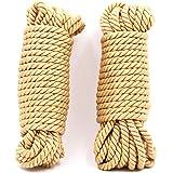 S Mの高級金黄色は縄の夫婦のおもちゃの調合の綱を縛っています (2本10メートル)
