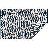Woven Rugs-HANDLOOMED, Diamond Navy Blue, 2x3'