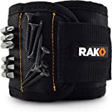 RAK Magnetic Wristband with Strong Magnets for Holding Screws, Nails, Drill Bits - Best Unique Tool Men, DIY Handyman, Father