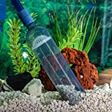 Fish Tank Cleaner - Aquarium Vacuum Syphon Pump with Flow Control- Gravel Cleaner Water Filter Syphon Hose Automatic Fluids T