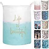 Merdes 19.7'' Waterproof Foldable Laundry Hamper, Dirty Clothes Laundry Basket, Linen Bin Storage Organizer for Toy Collectio