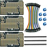 ElectroCookie Arduino Prototype Shield Board Kit, Stackable DIY Expansion Proto PCB for Arduino Uno R3 (3 Pack)