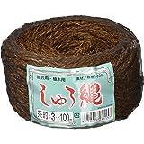 コンヨ (KONYO) しゅろ縄 100m 茶