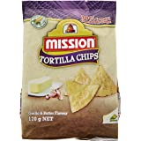 Mission Triangle Yellow Fried Chips, Garlic and Butter, 170g