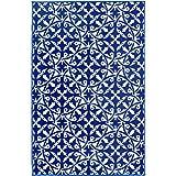 San Juan Indoor/Outdoor Recycled Plastic Rug - Blue - Fab Habitat Australia (150x238cm)