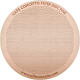 CAFE CONCETTO Filter for use with AeroPress Coffee Makers - Disc Fine - Reusable - Premium Coated Stainless Steel (Rainbow, M