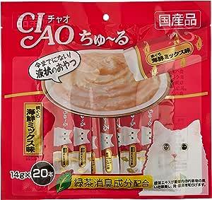 チャオ (CIAO) 猫用おやつ ちゅ~る まぐろ 海鮮ミックス味 14g×20本入×2個 (まとめ買い)