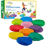 NATIONAL GEOGRAPHIC Balance Stepping Stones - Early Learning & Development for Kids 10 Soft Stones Multicolor