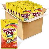 Swedish Fish Mini Candy, Crush Soda Fruit Mix Flavor, 12 Bags (8 Oz.), 12Count
