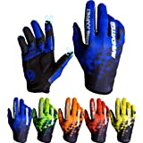 Cycling Gloves,Full Finger Biking Glove MTB DH Road Mountain Bicycle Motorcycle Anti-Slip Shock-Absorbing Touch Screen for Un