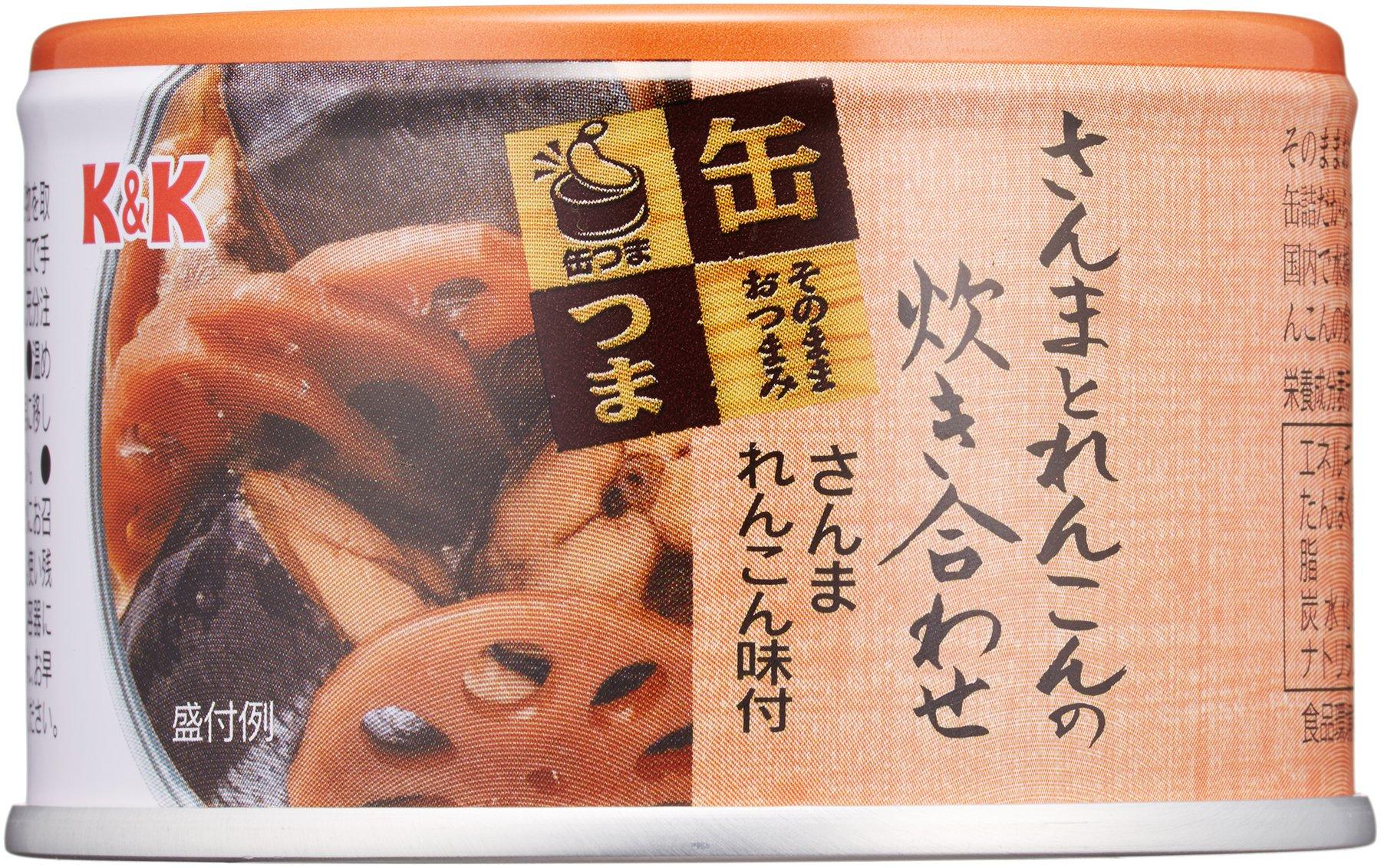 国分 K&K 缶つま さんまとれんこんの炊き合わせ さんまれんこん味付 EO缶160g