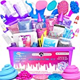 Unicorn Slime Kit Supplies Stuff for Girls Making Slime [Everything in ONE Box] Kids can Make Unicorn, Glitter, Fluffy Cloud,