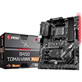 MSI Arsenal Gaming AMD Ryzen 2ND and 3rd Gen AM4 M.2 USB 3 DDR4 DVI HDMI Crossfire ATX Motherboard (B450 Tomahawk Max) (B450T
