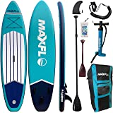 """Inflatable Stand Up Paddle Board 10'6"""" Long 6"""" Thick   SUP Paddleboard Accessories Carry Backpack   Wide Stance, Bottom Fin P"""