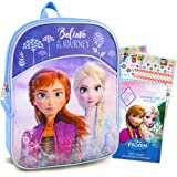 """Frozen Backpack for Girls Bundle ~ Premium 11"""" Frozen Mini School Bag for Toddlers with Over 400 Bonus Stickers (Frozen Schoo"""
