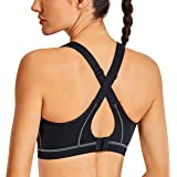 SYROKAN Women's High Impact Padded Support Sports Bra Full Coverage Wireless Active Bra