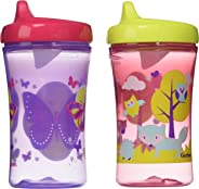 Gerber Graduates Advance Developmental Hard Spout Sippy Cup in Assorted Colors-2 Pack, 10oz (Theme May Vary)